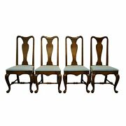 Set Of 4 Rare Ethan Allen Classic Manor Solid Maple Queen Anne Style Dining S...