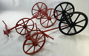 Lot Of Cast Iron Wheels For Toy Horse Wagons Various 3 Parts As Is