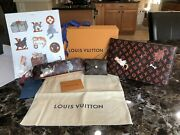New Auth Louis Vuitton Catogram Wristlet W/ Kirigami Card Holder And Pencil Pouch