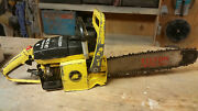 Vintage Rare Collectible Mcculloch Mac 10-10 Automatic Chainsaw With 16 Bar