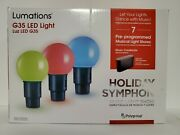 Lumations Holiday Symphony 15.8 Ft 20 Ct G35 Multicolor Led Music Light Show