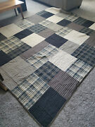 Woolrich King/cal King Patchwork Plaid Quilt Cotton Comforter