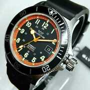 Gorgeous Glycine Watches Combat Sub Automatic Black Dial Mens Rubber Watch