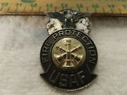 Rare Vintage Unites States Air Force Fire Protection Chief Marshall Hat Badge