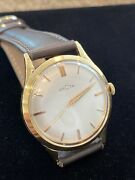 Vintage Menand039s Recta Limited Edition Solid 18k Gold Very Hard To Find 3x Signed.