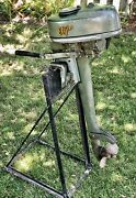 Antique 1950and039s Sears Roebuck Elgin 571 Outboard 1.25 Hp Boat Motor Vintage