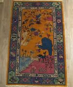 Antique Art Deco Chinese Rug 6and039 10 Andtimes 4and039 2 Or 82 Inch By 50i Nch Wcwu Euc