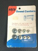 Nos / Vintage Arco Dowel Centers - 1/4 5/16 3/8 1/2 - Made In Usa Ships Free