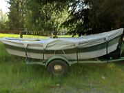 16and039 Eastside Drift Boat Includes Trailer Anchor 2 Sets Of Oars