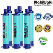 6 Pack Survival Water Filter Straw Drinking Filtration Camping Hiking Emergency