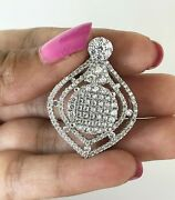 Steal Deal 2.10 Ct Round Natural Diamond Halo Cluster Pendant Solid 10k Gold