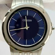 Citizen Eco Drive One Ar5050-51la Solar Navy Dial Stainless Mens