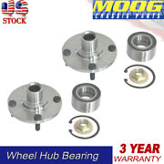 2 Moog For Ford Focus 2000-2011 Front Wheel Hub Bearings Assembly 4 Lugs
