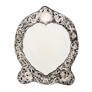 Antique Victorian Sterling Silver Dressing Table Mirror -1895