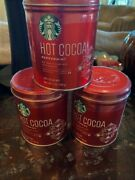 Starbucks Peppermint Hot Cocoa Tin - 7 Oz - Lot Of 3 - Sealed