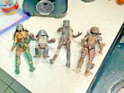 """Fox - Neca - Plus- Predator Action Figures - 4- 3 At 8"""" - 1 At 4"""" Roughly Used"""