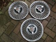 1963-1965 Ford Falcon 13 Hubcaps Set Of 3 Oem