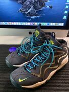 2013 Nike Air Pippen 1 Sz 11 M Midnight Navy/sonic Yellow-teal 325001- 400