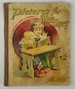 Rare Antique 1890s Victorian Childrenand039s Book Pictures For Wee Ones Cousin Kittie