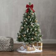 4.5-foot Cashmere Pine And Mixed Needles Hinged Artificial Christmas Tree With S