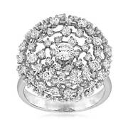 2.45ct Natural Round Diamond I-jsi1 Open-space Cocktail Ring 14k White Gold