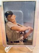 1953 Bowman Color 59 Mickey Mantle 2nd Year Hof Ny Yankees Gd Authentic