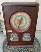 Antique English Coin Operated Fortune Teller Countertop Amusement Arcade Game