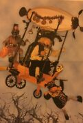 Bethany Lowe Halloween One Of A Kind Dirigible Balloon With Witch And Two Hallow