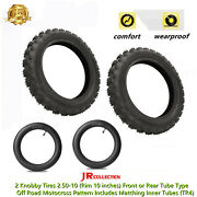 2 Knobby Tires 2.50-10 Front Rear Tube Includes Matching Inner Tubes Tr4-new