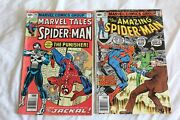 Lot Of Vintage 1979 Spider-man Comic Books - Punisher 1st Appearance August 106