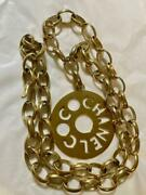 Vintage Big Charm Chain Necklace Gold Engraved Genuine Already Appraised