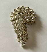 Sherman , Brooch, Large, Fabulous Signed 3.78 By 2.5 9.6cm By 6.35cm
