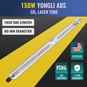 150w Replacement Laser Tube In Glass For Co2 Laser Cutting Machine 12000hr Life