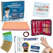 Suture Practice Kit With Suturing How-to Guide Designed By Medical Professionals
