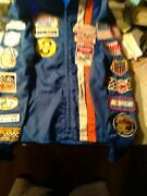 Vintage Nascar Racing Jacket With 29 Patches Mostly 70's Rebel 500 Daytona Dover