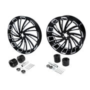 18and039and039 Front + Rear Wheel Rim W/ Disc Hub Fit For Harley Road Electra Glide 08-21