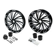 18and039and039 Front + Rear Wheel Rim W/ Disc Hub Fit For Harley Road King 08-21 Non Abs