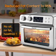 Air Fryer Toaster Oven 24quart Lcd Countertop Convection Airfryer W/ Rotisserie