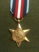 Wwii British Arctic Star Medal For Serving On Arctic Atlantic Convoy