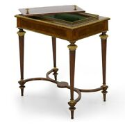 French Marquetry And Gilt Bronze Antique Wine Serving Table By Paul Sormani