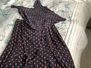 Whistle Ladies Long Skirt And Top Size 12 Summer Cute Design Blue With Orangeandnbsp