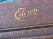 Antique Edison Home Cylinder Phonograph Wood Case With Hardwarestock Part Rb
