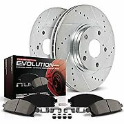 Power Stop K447 Rear Z23 Evolution Brake Kit With Drilled/slotted Rotors And