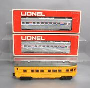Lionel And Williams O Scale Assorted Passenger Cars [3]/box