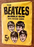 1964 Beatles Bandw Opc Unopened Pack O Pee Chee Not Topps
