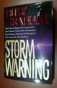 Billy Graham - Storm Warning - Hand Signed Autographed Very Rare Book
