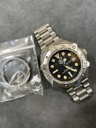 👍 Transitional Tag Heuer 840.006 Super Pro Auto Black 844 Submariner Dive Watch