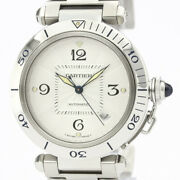 Polished Pasha 38 Stainless Steel Automatic Mens Watch W31031h3 Bf517593