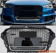 For 2013-2016 Audi A3 S3 8v Rs3 Style Front Honeycomb Mesh Bumper Grill /quattro