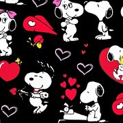 Snoopy Love Super Soft Luxe Yoga Band Leggings Peanuts Charlie Brown Plus Os Rts